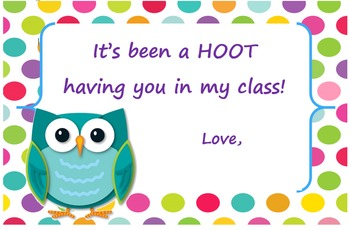 It's been a HOOT!
