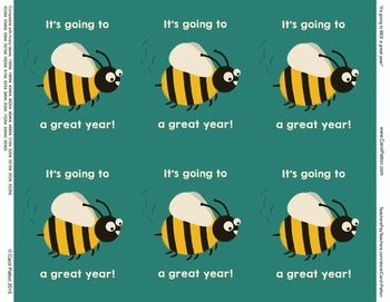 It's going to be / bee a great year! - New Year's Day or Back to School labels!