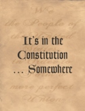 It's in the Constitution … Somewhere