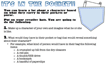 It's in the Pocket: Characterization Activity