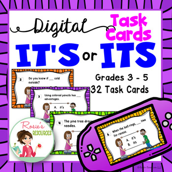 It's or Its - Digital Task Cards