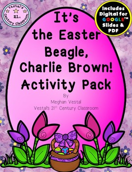 It's the Easter Beagle, Charlie Brown!  Activity Pack {Digital & PDF Included}
