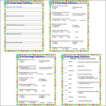 It's the Easter Beagle, Charlie Brown : Comprehension Activity Pack Lined Paper