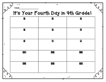 It's the Fourth Day of 4th Grade!