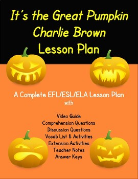 It's the Great Pumpkin, Charlie Brown Halloween Lesson Plan