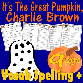 It's the Great Pumpkin Charlie Brown Halloween : Vocabulary Spelling Worksheets