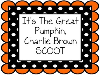 It's the Great Pumpkin, Charlie Brown Movie SCOOT