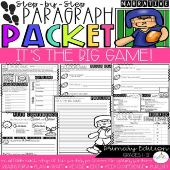It's the Super Bowl! Narrative Step-Up Paragraph Packet