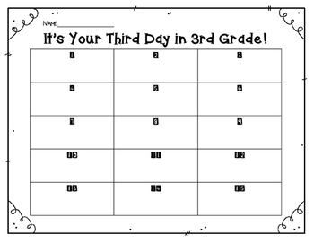 It's the Third Day of 3rd Grade!