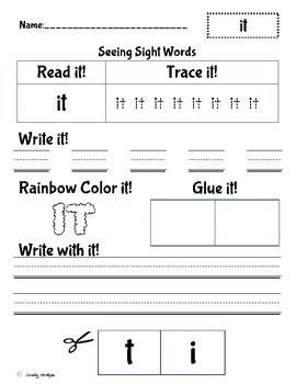It sight word practice