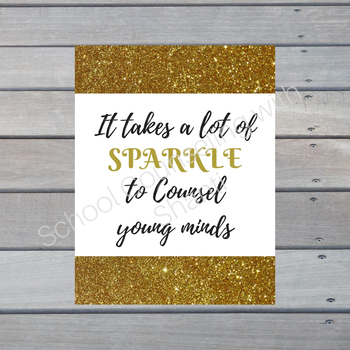 It takes a lot of sparkle to counsel young minds Office Poster