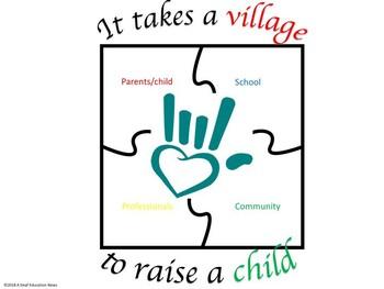 It takes a village to raise a child poster