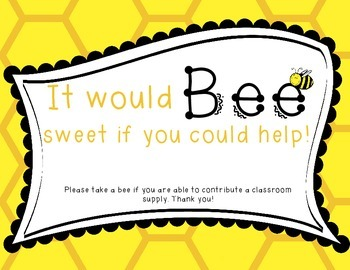 Wish List Bee Themed: It Would BEE Sweet if You'd Help!