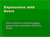 Italian 1 - Avere expressions practice