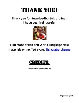 Italian 1 Grammar Study Guide and Reference (DOCX VERSION)