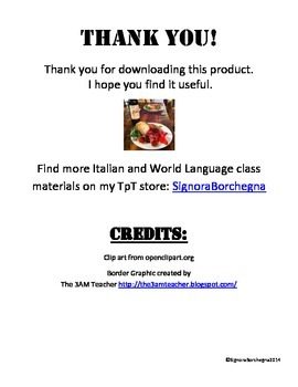 Italian 1 Grammar Study Guide and Reference (PDF VERSION)
