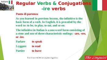 Italian 16 Advanced - ire verb