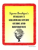 Italian 2 Grammar Study Guide and Reference (PDF VERSION)
