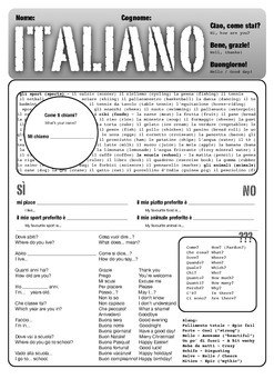 Italian A4 exercise book cover - any age