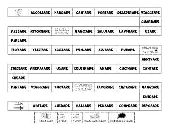 Italian - ARE Verbs - Board Game