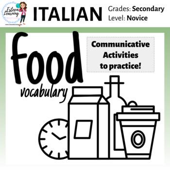 Italian Activities to Practice with Food
