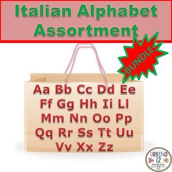 Italian Alphabet Assortment BUNDLE