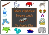 Italian Alphabet Picture Cards