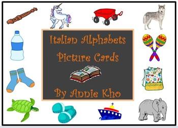 Italian Alphabet Picture Cards