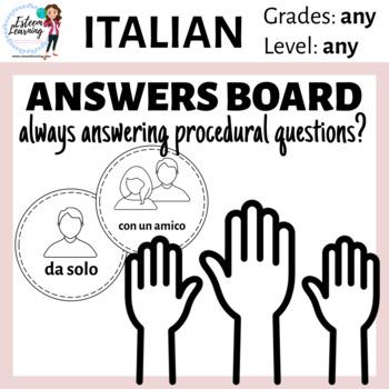 Italian Answers Board