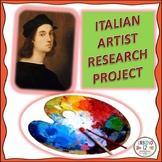 Italian Artist Research Project
