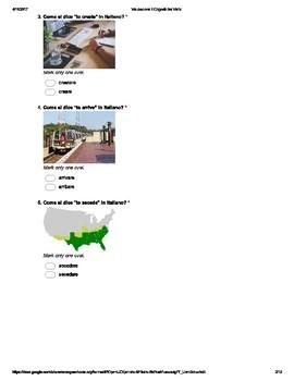 Italian Made Simple: Verb Cognates Assessment (Multiple Choice)