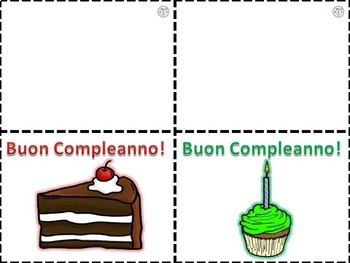Italian: Auguri Bigliettini