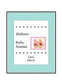 Italian Baby * Names ~ Italian Names