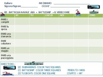 Italian: Battleship game with FARE