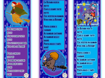 Italian Befana Bookmarks