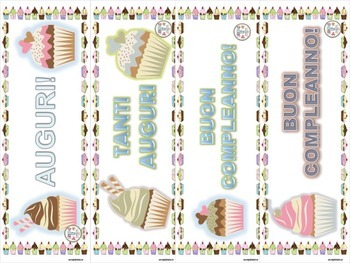 Italian: Birthday Bookmarks