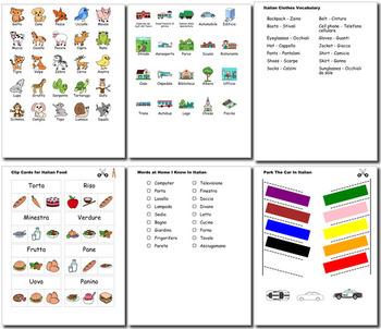 Italian Bundle for Smart Teachers: 10 beginner units & ☆147+☆ NO PREP printables