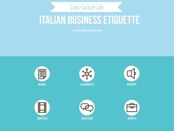 Cross-Cultural Training/Business English for ESL/EFL: Italian Business Etiquette