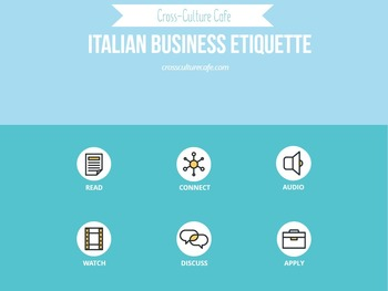 Cross-Cultural Training/Business English for ESL/EFL: Italian Business Etiquette