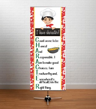 Italian CHEF / COOKING - Classroom Decor: LARGE BANNER, I have character, Luke