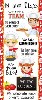 Italian CHEF / COOKING - Classroom Decor: LARGE BANNER, In