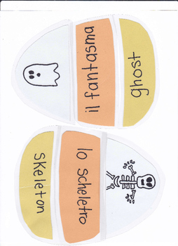 Italian Candy Corn Halloween Vocabulary Game