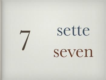 Italian Cardinal Numbers 1 to 100 - Powerpoint Presentatio