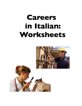 Italian Vocabulary: Careers (Worksheets)