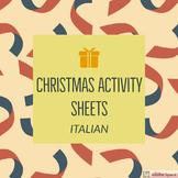 Italian Christmas Activity Sheets