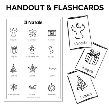 Italian Christmas – Natale | Worksheets, Flashcards, Handout