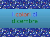 Italian Christmas Vocabulary and Colors Presentation / Game Cards