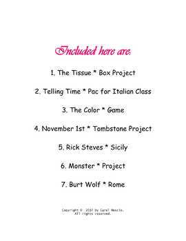 Italian * Class Bundle ~ $7.00 for 7 ready-to-use resources