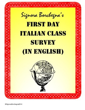 Italian Class First Day Student Survey