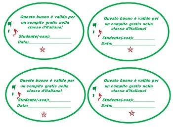 Italian Class: Free Homework Passes